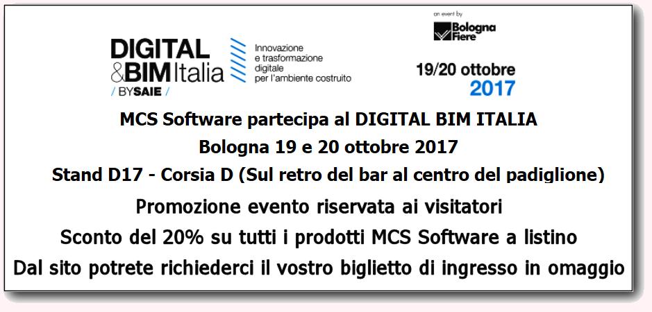 Digital BIM Italia - Promozione riservata ai vsitatori - 20% di sconto sul listino MCS