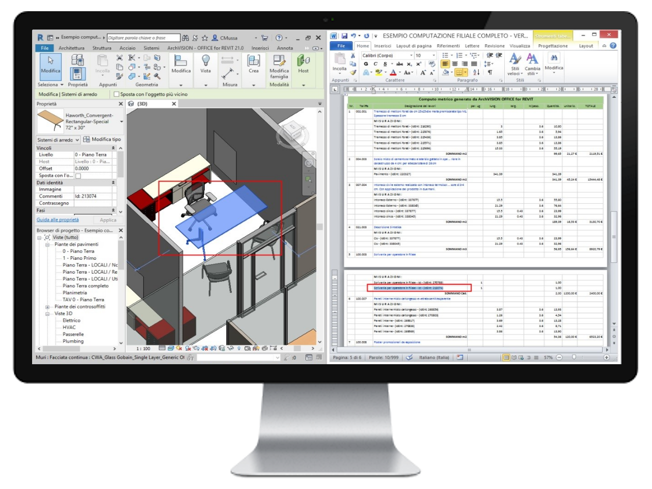 ArchVISION OFFICE for REVIT - Revit Find de Word